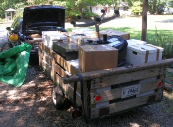 The second trailer load of possessions.